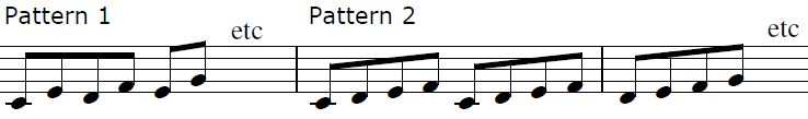 Image of patterns 1 and 2